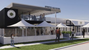 An artist impression of the new Spinifex Alehouse in North Beach.