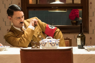 No laughing matter: In <i>JoJo Rabbit</i>, Taika Waititi played Adolf Hitler as a needy imaginary friend.