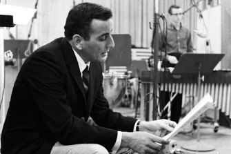 Tony Bennett at a new York recording session in 1961.