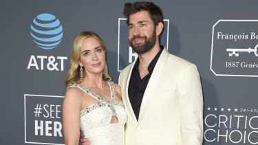Emily Blunt and John Krasinski: equal and happy.