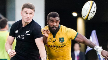 'Excited': Beauden Barrett has earmarked the match against England as a benchmark for the World Cup.