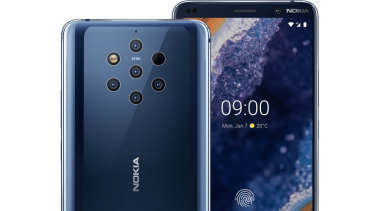 The Nokia 9 PureView has five rear cameras.