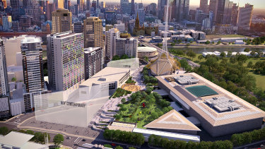 """The """"public realm"""" works will stretch along Sturt Street, from the Yarra to Southbank."""