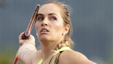 Javelin world champion Kelsey-Lee Barber.