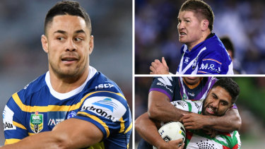 Looking for certainty: Jarryd Hayne, Greg Eastwood and Robert Jennings.