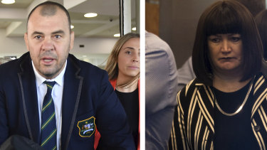 The relationship between Michael Cheika and Raelene Castle had broken down completely during the World Cup.