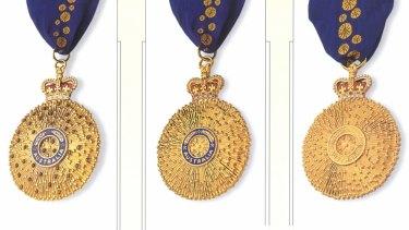 The Companion in the Order of Australia (AC), Officer in the Order of Australia (AO) and Member in the Order of Australia (AM)