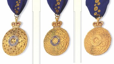 Australia Day honours include the Companion in the Order of Australia (AC), Officer in the Order of Australia (AO) and Member in the Order of Australia (AM).