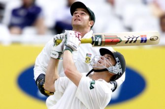 Mark Boucher, pictured here in action behind the stumps for South Africa in 2002, has been named the country's new coach.