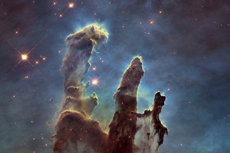 Among Hubble's most famous pictures is the Pillars of Creation in the Eagle Nebula, originally captured in 1993 and retaken in 2014 with better cameras.