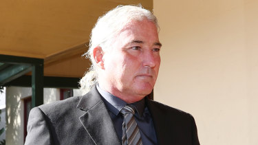 Mark Thomson arrives at court in April.