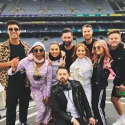 The Spice Girls, minus Posh Spice, warm up for their concert at Croke Park, Dublin.