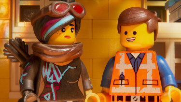 Wyldstyle and Emmet in The Lego Movie 2: The Second Part.