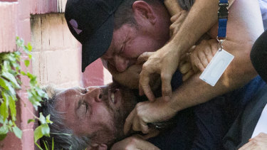 Packer and Gyngell made headlines with a public brawl outside the billionaire's Bondi home.