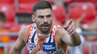 Task at hand: Stephen Coniglio says he wants to focus on footy, pushing contract talks into the background.