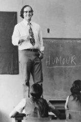 Tom Krause in his teaching days.