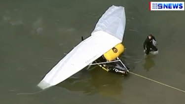 The aircraft was retrieved from the waters of Lake Eildon on Sunday.