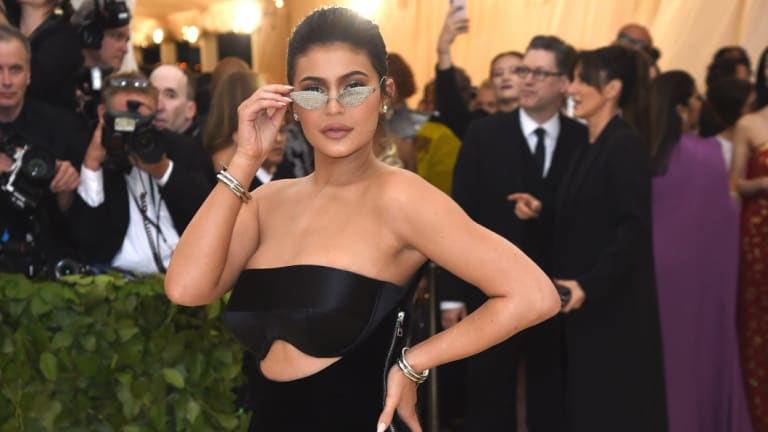 Kylie Jenner attends The Metropolitan Museum of Art\'s Costume Institute benefit gala celebrating the opening of the Heavenly Bodies: Fashion and the Catholic Imagination exhibition on Monday, May 7, 2018, in New York.