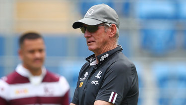 Queensland coach Wayne Bennett will wait on a review of the state's Origin programs.