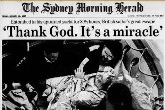 Front page of the SMH, 10 January, 1997.