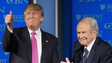 Donald Trump with Reverend Pat Robertson.