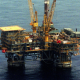 Drilling deeper: an oil rig in the Bass Strait operated by Exxon's Australian subsidiary, Esso.