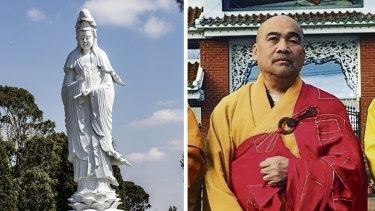 The statue of Kuan Yin and Master Dao.