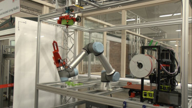 A robot fabricator at the York Robotics Laboratory.
