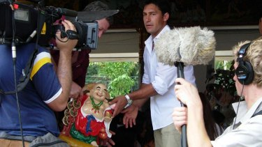 Jamie Durie on the set of Backyard Blitz, 2005.
