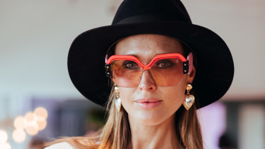 Clementine McVeigh wearing Miu Mius at the Sunglass Hut House of Sun party.