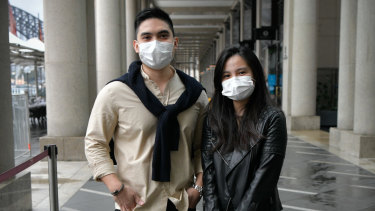 Ezekiel and Kristal Dioneda will dine inside the Green Zone at Circular Quay on New Years Eve.