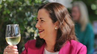 "Queensland Premier Annastacia Palaszczuk says alcohol is only served at functions when it is deemed ""appropriate to the circumstances""."