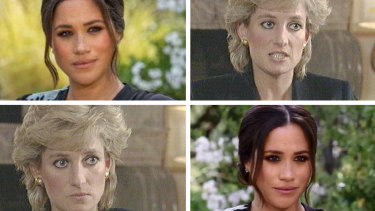 Meghan, Duchess of Sussex, and Princess Diana both spoke to the media about life in the royal family.