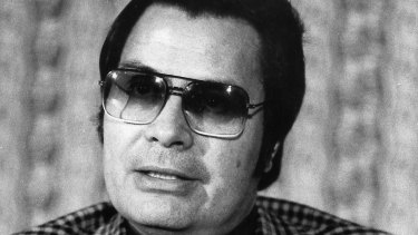 Jim Jones, pastor of Peoples Temple in San Francisco pictured in 1976, two years before the cult massacre at Jonestown in Guyana.