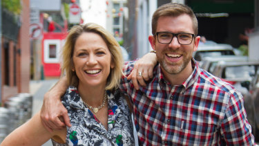 The ABC's breakfast co-hosts Loretta Ryan and Craig Zonca.