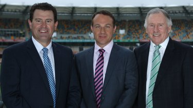 Old firm: Michael Slater may have struggled after the loss of Mark Taylor and Ian Chappell from the Nine commentary team.