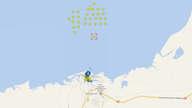 The vessel remains at anchor off the coast of Port Hedland.