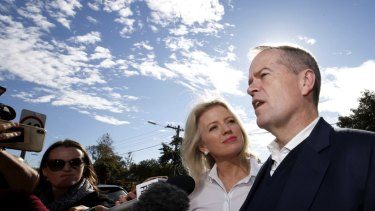 Bill and Chloe Shorten return home after a disastrous election result.