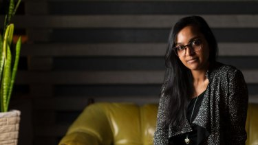 Writer Zoya Patel (at Monster Bar and Restuarant) in Canberra.
