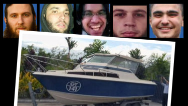 The five men intended to head to Philippines in a small boat to overthrow its government. From left Musa Cerantonio, Paul Dacre, Shayden Thorne, Antonino Granata and Kadir Kaya.