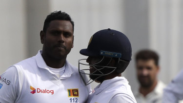 Sri Lanka will miss the experience of Angelo Mathews (left) in Australia.