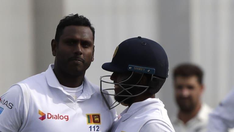 Sri Lanka will miss the experience of Angelo Mathews (left) in Australia.