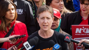 "Sally McManus said it would be ""weird"" if she signed the CFMMEU pledge."