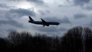 A plane comes in to land at Gatwick Airport in December shortly after flights resumed following the drone incident.