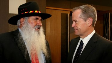 Senator Pat Dodson will unveil Labor's indigenous health plan alongside Bill Shorten.