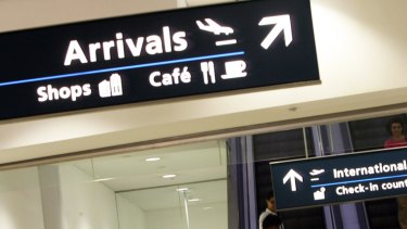 Passengers at Sydney Airport.