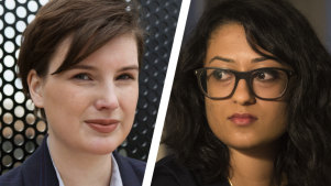 Chelsey Potter and Dhanya Mani came forward to protest about sexual assault and harassment while they worked for Liberal politicians.