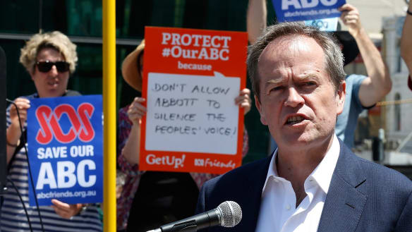 Bill Shorten vows to reverse the Turnbull government's $84m cut to the ABC