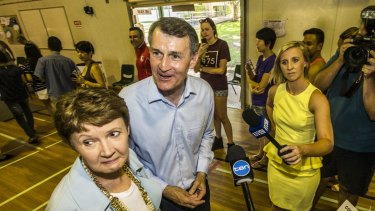 Then lord mayor Graham Quirk voting with his wife Anne at the last council elections in 2016.