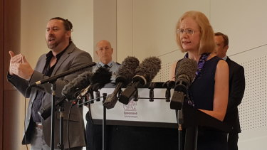 Queensland Chief Health Officer Dr Jeannette Young updates the media on Friday.